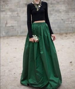 maxi falda esmeralda